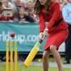 Kate Middleton Plays Cricket In Heels