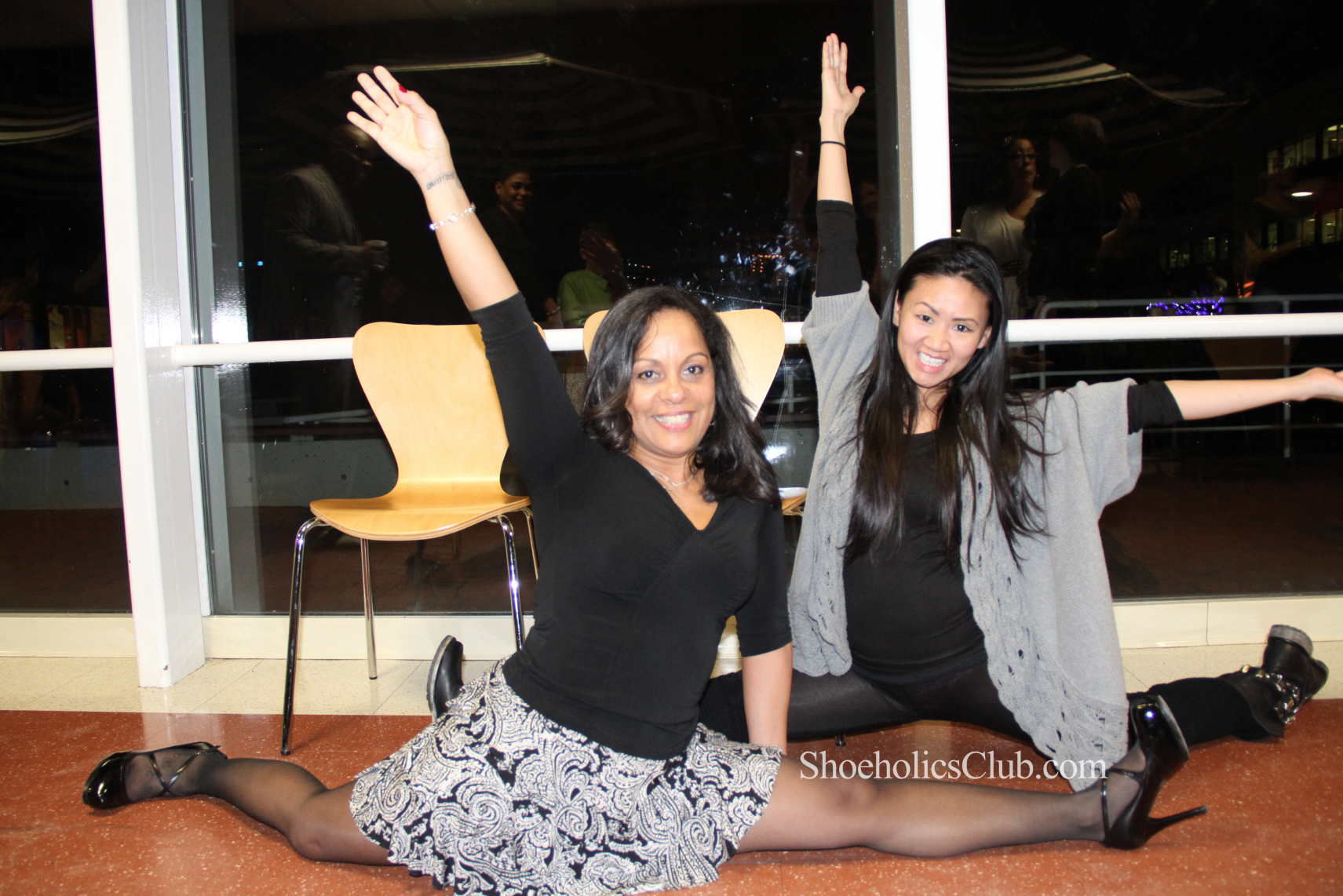 Joyce and Cindy showing just how flexible they can be in their heels! WOW!