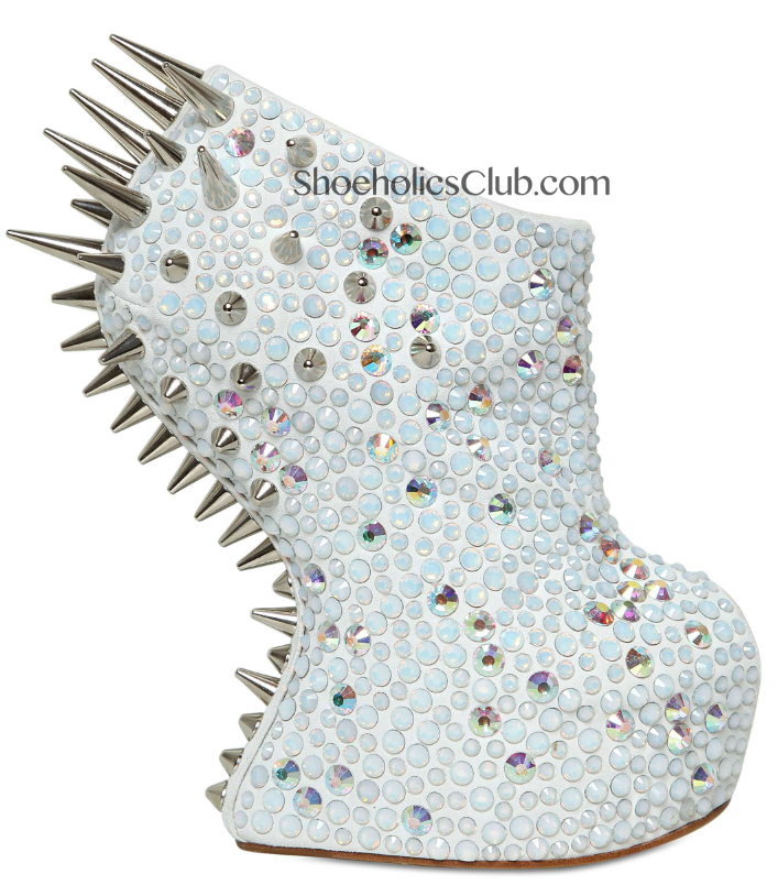 You can opt for the white leather, silver spiked version as well
