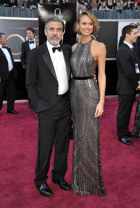George Clooney and Stacey Keiber in Naeem Khan