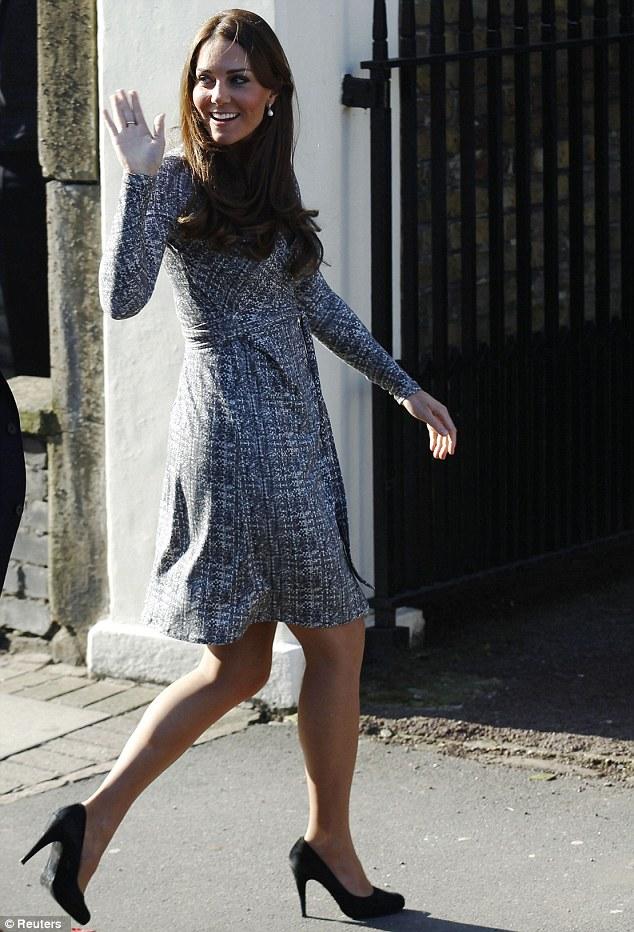 4 Months Pregnant Kate Middleton Rocks High Heels