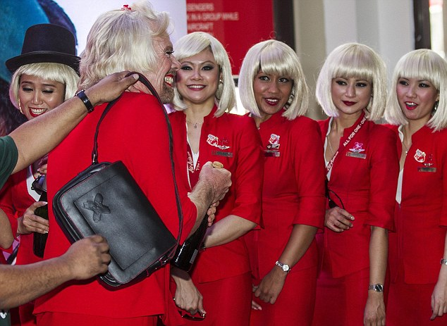 RICHARD BRANSON AS AIRASIA STEWARDRESS