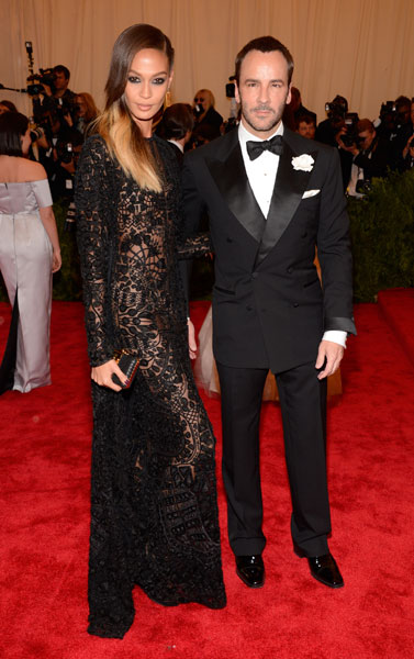 Tom Ford and Joan Smalls in Tom Ford